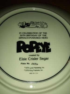 50th Bday popeye plate. for Sale in Indianapolis, IN
