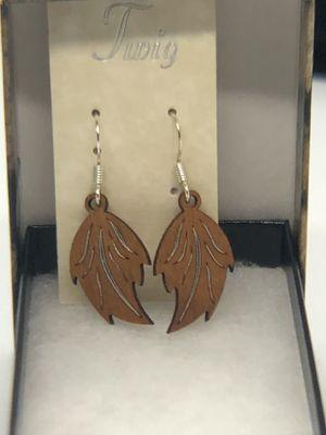 Wooden leaf earrings for Sale in Olympia, WA