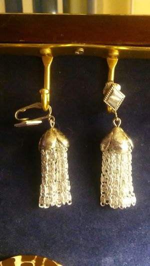 Silver Tassel SaraCov Clip On Earrings for Sale in OR, US