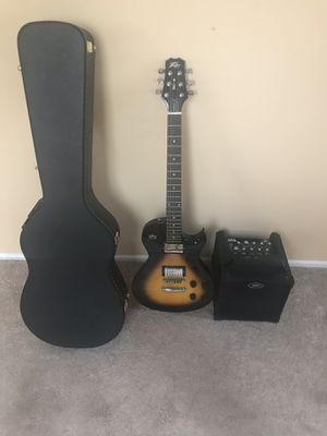 Peavey SC-2 Single Cut Series guitar, hard case and Peavey Nano Vypyr amp for Sale in Herndon, VA