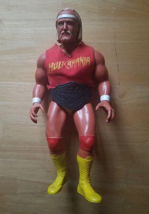 "Large ""Vintage"" Hulk Hogan 16"" Posable Wrestling Figure with Red Hulkamania Shirt & Title Belt - Titan Toys 1985 (Dated) for Sale in Sarver, PA"