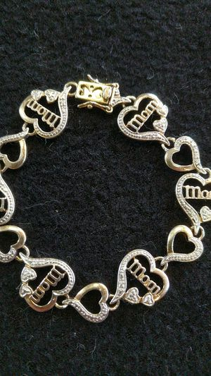 Gold-toned Sterling Silver Mom Heart Bracelet for Sale in Pittsburgh, PA