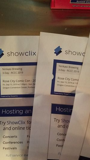 3 day passes to Rose City Comicon for Sale in Portland, OR
