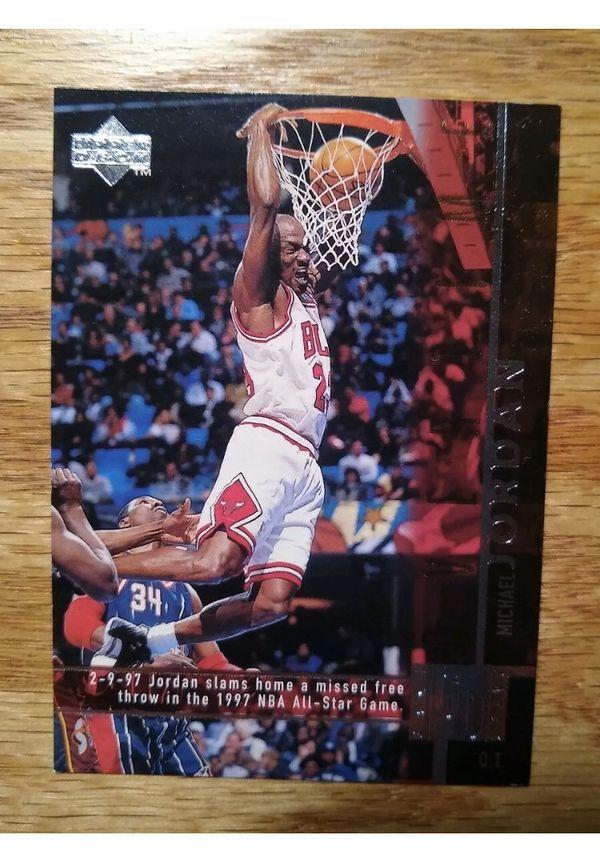 1997-98 Upper Deck Michael Jordan Game Dated Overtime Foil Stamp