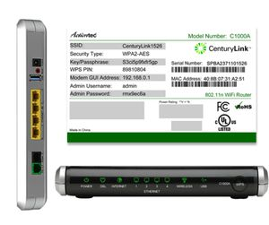 CenturyLink C1000Amodem/WiFi router for Sale in South Weymouth, MA