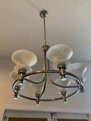 Brushed Silver Chandelier / Candelabra with 6 Lights for Sale in Gilbert, AZ