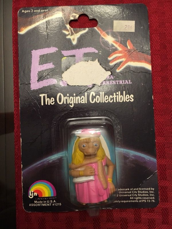 4 Vintage Collectible And Unopened E.T. Toys