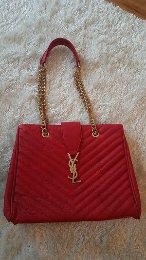 Red leather handbag for Sale in Atlanta, GA