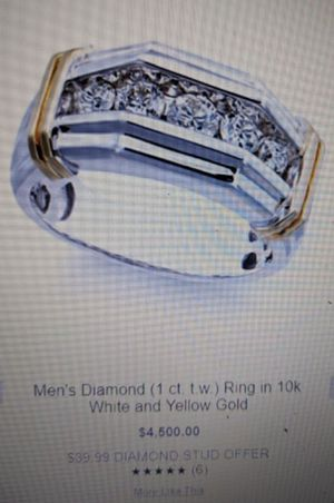 Mens white and yellow gold 1/2 ct for Sale in Port St. Lucie, FL