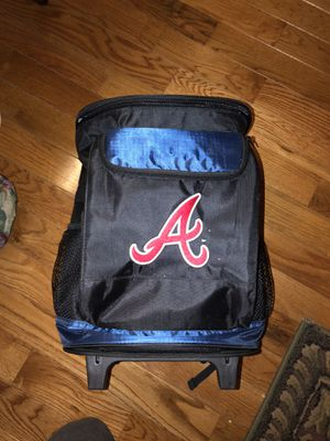 Logo Brand- Atlanta Braves insulated 48 can rolling cooler. for Sale in Smyrna, TN