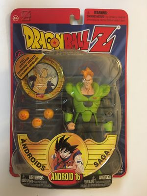 Dragon Ball Z Android 16 Irwin Toys 2000 Androids Saga Deluxe Action Figure NEW IN PACKAGE!!! for Sale in Orlando, FL
