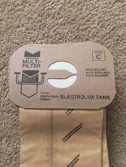 Vacuum bags for Electrolux tank style. Style C - set of 10 bags. for Sale in Maricopa,  AZ