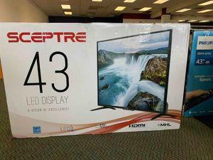 """Brand New Sceptre 43"""" TV! Open box w/ warranty 5GC7 for Sale in Lawndale, CA"""