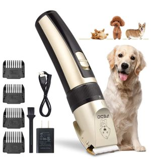 TZCER Professional Dog Grooming Kit Rechargeable Cordless Pet Grooming Clippers Low Noise Dog Clippers Suitable for Dogs,Cats,House Animals,Pets Groo for Sale in Brooklyn, NY