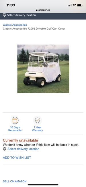 Golf cart cover for Sale in Kernersville, NC