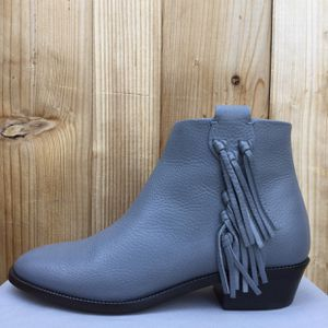 NIB Valentino C-rockee fringe pebbled leather ankle boot size 37.5 for Sale in Redondo Beach, CA
