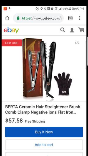 Berta Ceramic hair straightener brush comb clamp for Sale in Pomona, CA