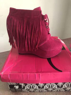 Pink Fringe Wedge Heels for Sale in Atlanta, GA