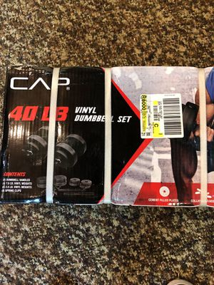 CAP Barbell 40 lbs Pound Vinyl Dumbbell Set for Sale in Marietta, PA