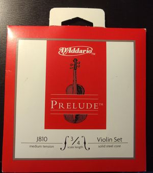 Best Deal!!!! D'Addario Prelude Violin 3 Strings(A, D, G strings only), 3/4 Scale, Medium Tension for Sale in Bellevue, WA