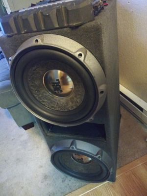Jbl p1222 subs box and amps for Sale in Kent, WA