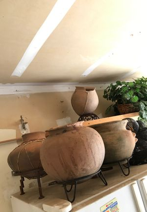 Art Deco native pots and fake plants decorations for Sale in Chandler, AZ