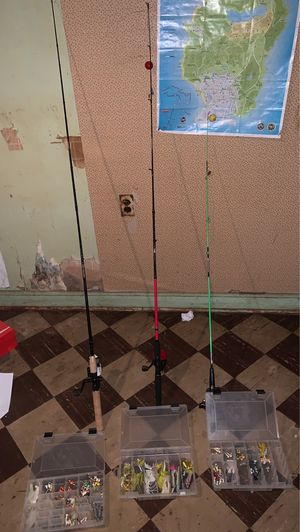 Fishing rods for Sale in UPPR MARLBORO, MD