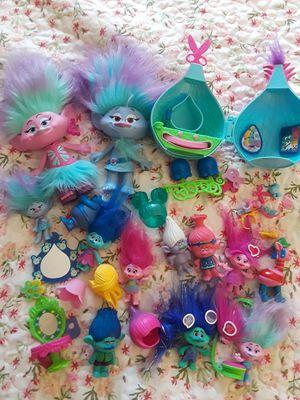 Trolls hair salon toy lot/$15 for Sale in Las Vegas, NV