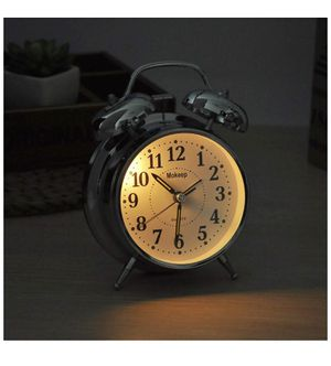 "Alarm Clock for Heavy Sleepers 4"" Twin Bell Vintage Alarm Clock with Backlight, Silent Sweep Seconds Desk Clock for Bedroom, Battery Operated Loud Al for Sale in Irvine, CA"