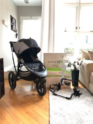 Baby Jogger Summit X3 Stroller, Universal Car Seat Adapter + Parent Console for Sale in Chicago, IL