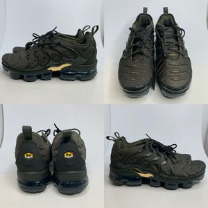 NIKE AIR VAPORMAX PLUS CARGO KHAKI OLIVE GREEN GOLD SIZE 10.5 B-GRADE for Sale in Euless, TX