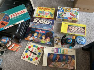 Board games! Monopoly, risk, sorry, operation, mouse trap, drinking Jenga for Sale in Denver, CO