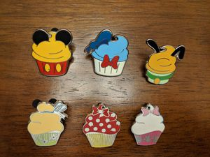 Group of 6 Disney pins cupcake theme for Sale in Glendale, AZ
