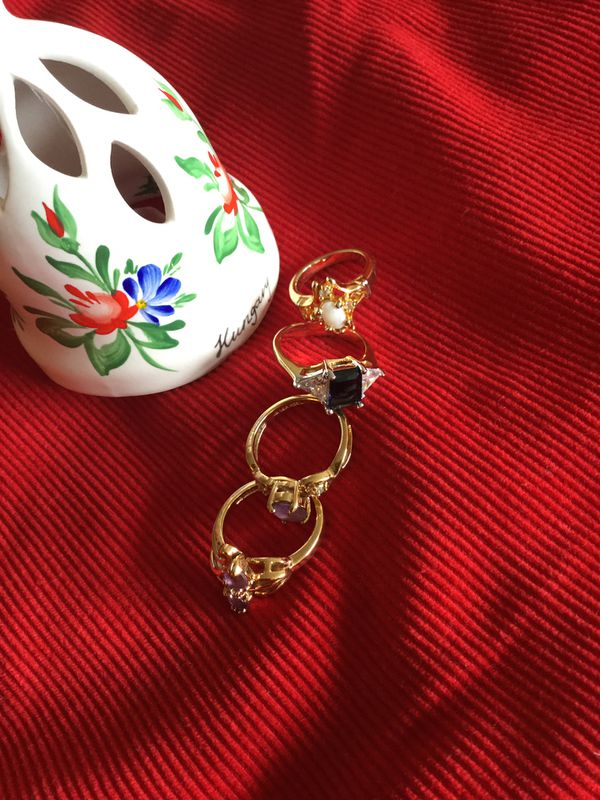 Assorted Vermeil Gold rings Size # 5 / Gold over Sterling silver jewelry / beautiful Selection 🦋💍🦋💍🦋