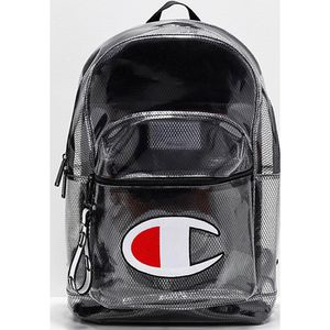 PRICE MATCH GUARANTEED Champion Supercize Clear & Black Backpack for Sale in Lake City, MI