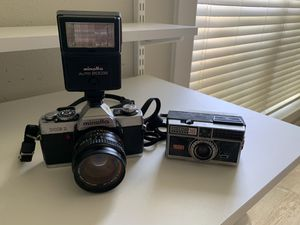 A Minolta XG1 Camera & Instamatic 300 Camera For Sale for Sale in San Antonio, TX