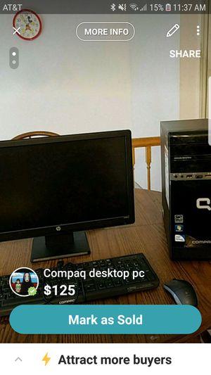 Compaq cq2701 complete desktop pc for Sale in Cedar Hill, MO