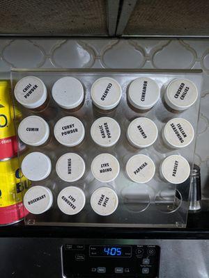 Prodyne Acrylic 20 Bottle Spice Rack $15 for Sale in Austin, TX