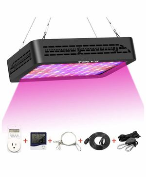 Brand new LED Grow Light, Double Switch 1000W Plant Grow Lights with Timer, Thermometer Humidity Monitor Adjustable Rope Full Spectrum Grow Lamps for Sale in Las Vegas, NV