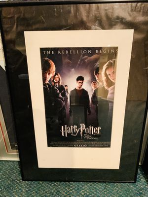 """Harry Potter and the Order of the Phoenix Framed 20 """" x 28"""" Movie Poster for Sale in North Potomac, MD"""