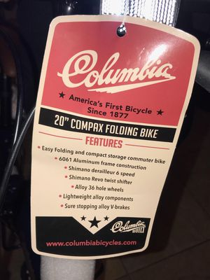 "Folding bike Columbia 20"" new for Sale in Upland, CA"