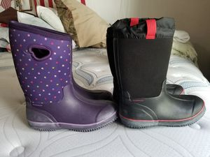 Kids snow or rain boots (black only now) for Sale in Denver, CO