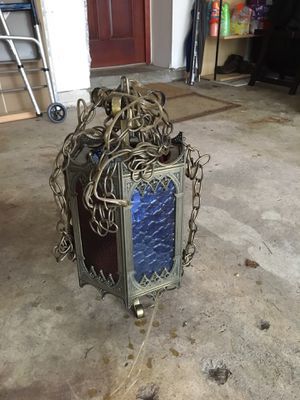 Vintage gothic brass hanging lamp for Sale in Evesham Township, NJ