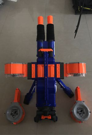 Nerf Rhino fire elite machine gun with drums working for Sale in Miami, FL