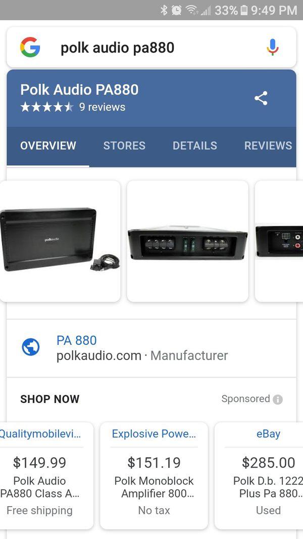 Polk audio pa880 amp