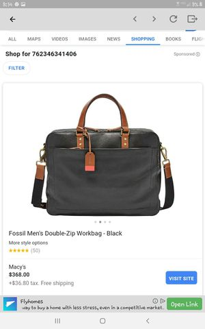 Laptop bag fossil for Sale in Seattle, WA