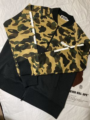 Bape L Yellow Camo Bomber Jacket NEW for Sale in Arlington, TX