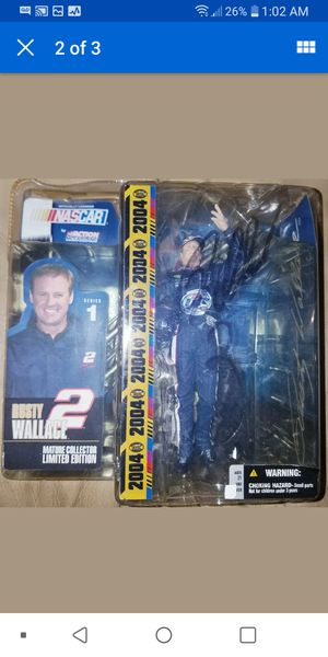 Signed w/COA McFarlane Nascar Rusty Wallace #2 Collectible Toy Figure Brand New for Sale in Pinellas Park, FL