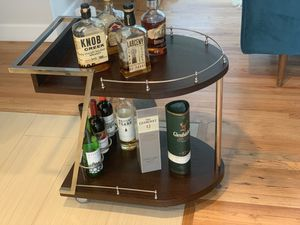 Modern Wood and Metal bar cart for Sale in Kirkland, WA