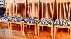 """5-Pine """"Slat Back"""" Newly Upolstered Seat is 18"""" x 18"""" x 18"""" H. Back is 40"""" H. for Sale in Arvada, CO"""